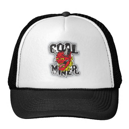 coal miner tattoo design trucker hat zazzle. Black Bedroom Furniture Sets. Home Design Ideas