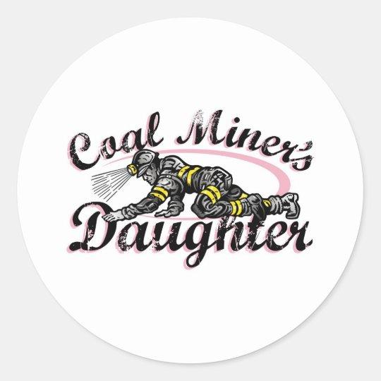 coal miner's daughter classic round sticker
