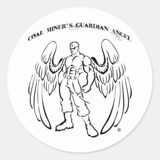 Coal Miner's Guardian Angel Sticker