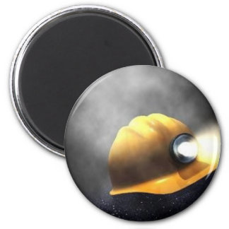 coal miners hat 2 inch round magnet