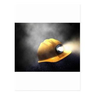 coal miners hat postcard