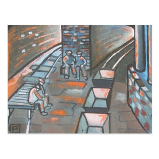 Coal-Miners-Having-a-Break Postcard