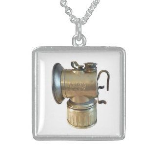 Coal Miner's Lamp Neckwear Sterling Silver Necklace
