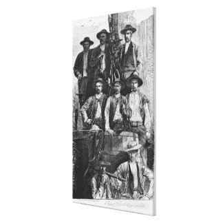 Coal Miners of Le Creusot during the Second Canvas Print