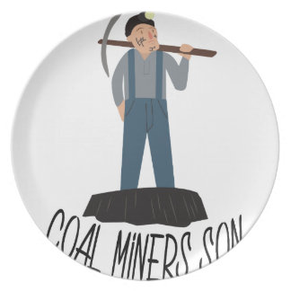 Coal Miners Son Plate