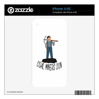 Coal Miners Son Skins For iPhone 4S