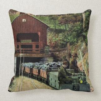 Coal Miner's Throw Pillow