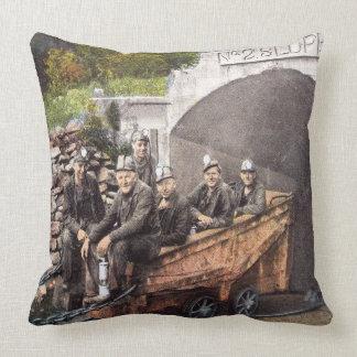 Coal Miners Throw Pillow