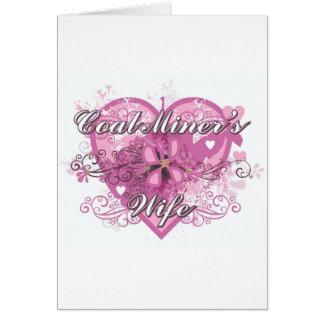 COAL MINER'S WIFE GREETING CARD