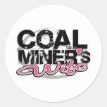 coal miner's wife round sticker