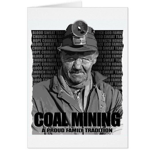 COAL MINING CARD