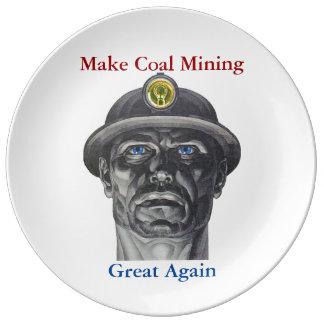 Coal Mining Dinner Plate