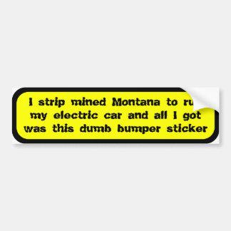 Coal powered electric car ... car bumper sticker