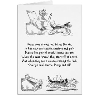 Coal Scuttle Coach Cats Greeting Cards
