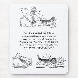 Coal Scuttle Coach Cats Mouse Pad