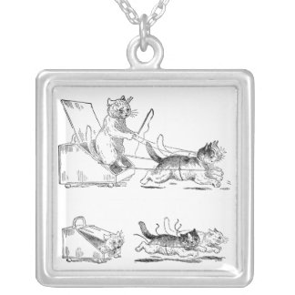Coal Scuttle Coach Cats Custom Necklace