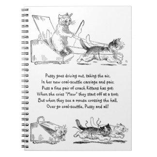 Coal Scuttle Coach Cats Spiral Note Book