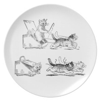 Coal Scuttle Coach Cats Plates