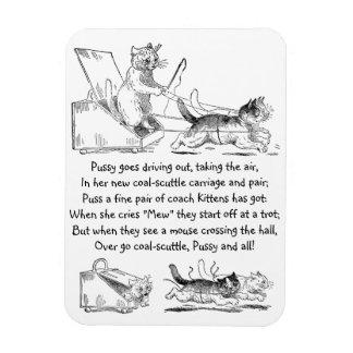 Coal Scuttle Coach Cats Vinyl Magnets