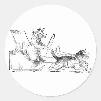 Coal Scuttle Coach Cats Sticker