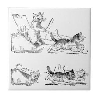 Coal Scuttle Coach Cats Tiles