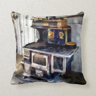 Coal Stove in Kitchen Throw Pillow