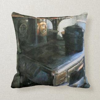 Coal Stove Throw Pillow