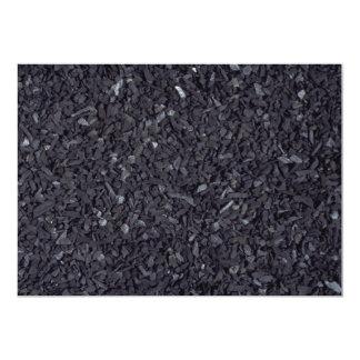 "Coal texture 5"" x 7"" invitation card"