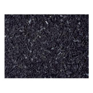 Coal texture postcard