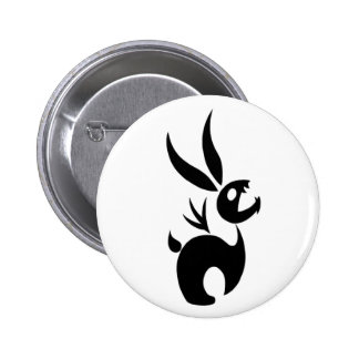 Coal the Shadow Rabbit Pinback Button