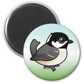 Coal Tit 2 Inch Round Magnet