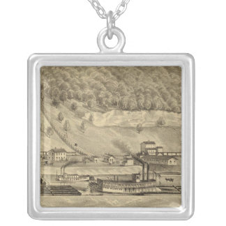 Coal works of O'Neil and Company Silver Plated Necklace