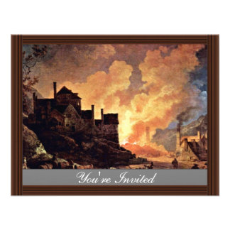 Coalbrookdale At Night By Philipp Jakob Personalized Announcement