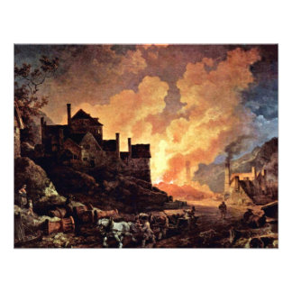 Coalbrookdale At Night By Philipp Jakob Personalized Invite