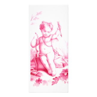 Coalbrookdale porcelain Cupid, painted 1865 Personalized Rack Card