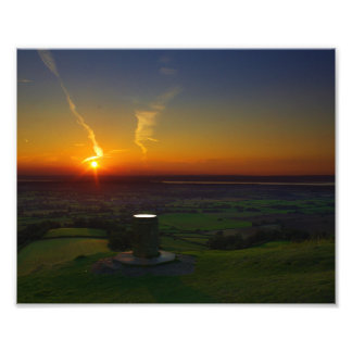 Coaley Peak Sunset In Gloucestershire Photograph