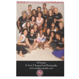 Coalición de la imagen de la yoga y del cuerpo calendarios de pared