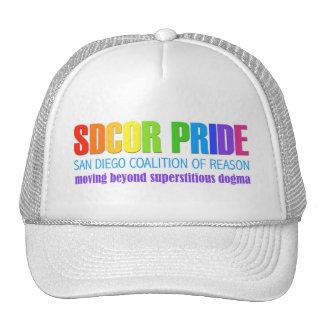 Coalición de San Diego del orgullo de la razón Gorras