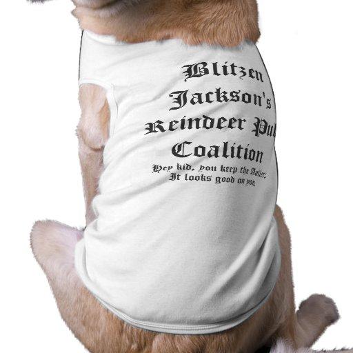 Coalición del tirón del reno de Blitzen Jackson Camiseta De Mascota
