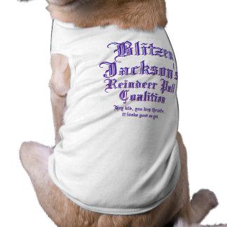 Coalición del tirón del reno de Blitzen Jackson Camisa De Mascota