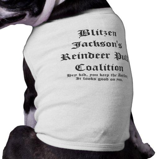Coalición del tirón del reno de Blitzen Jackson Camisetas De Mascota