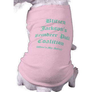 Coalición del tirón del reno de Blitzen Jackson Ropa De Perro