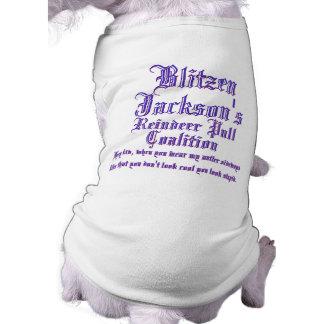 Coalición del tirón del reno de Blitzen Jacksons Playera Sin Mangas Para Perro