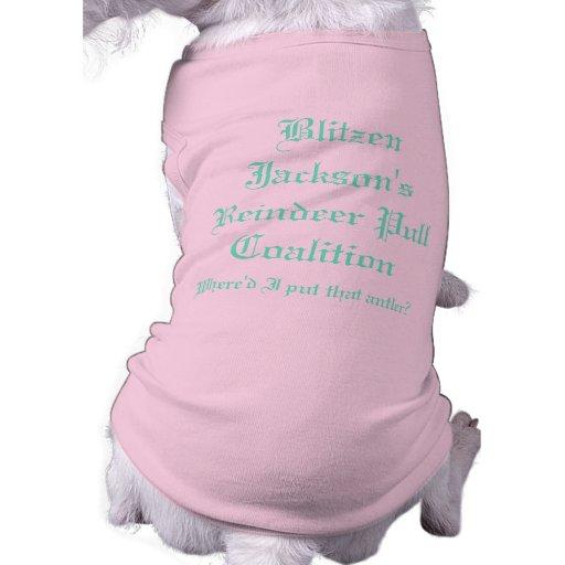 Coalición del tirón del reno de Blitzen Jacksons Camisas De Perritos