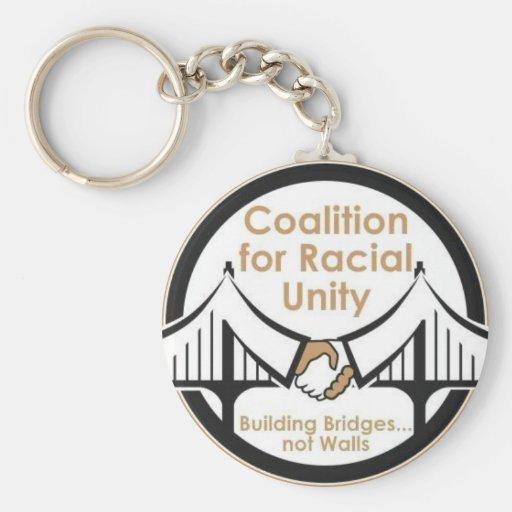Coalición para la unidad racial llavero personalizado