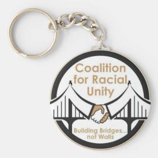 Coalición para la unidad racial llavero redondo tipo pin