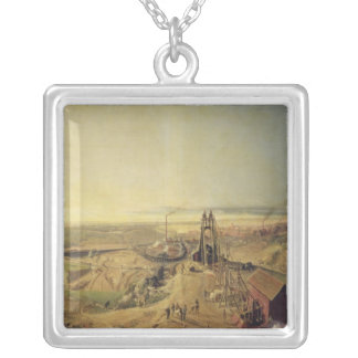 Coalmines and Clay Quarries at Montchanin Silver Plated Necklace