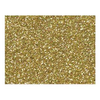 Coarse Golden Glitter Texture Print Postcard
