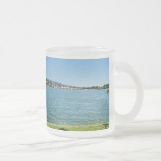 Coarse home on the Rhine Frosted Glass Coffee Mug
