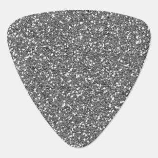 Coarse Silver Glitter Texture Print Guitar Pick